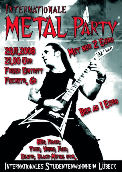 Metal Party am 29.11. im ISW
